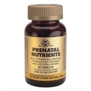 Solgar Prenatal Nutrients 60 comprimidos