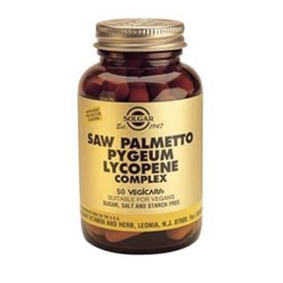 Solgar Saw Palmetto Opuntia Lycopne 50 cápsulas vegetais