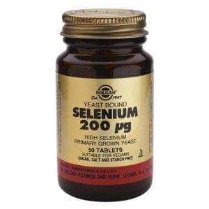 Solgar Selenium 200µg 50 comprimidos