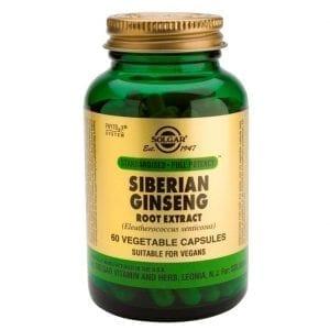 Solgar Siberian Ginseng Root Extract 60 cápsulas vegetais