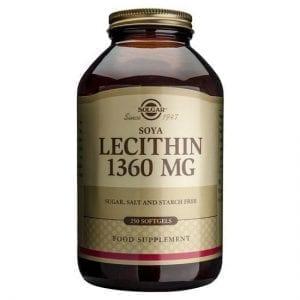 Solgar Soya Lecithin 1360mg 250 cápsulas moles