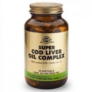 Solgar Super Cod Liver Oil Complex 60 cápsulas moles