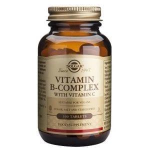 Solgar Vitamin B – Complex with Vitamin C 100 comprimidos