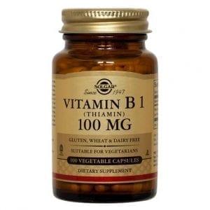 Solgar Vitamin B1 100mg 100 cápsulas vegetais