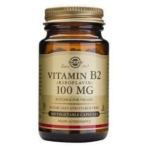 Solgar Vitamin B2 (Riboflavina) 100mg 100 cápsulas vegetais