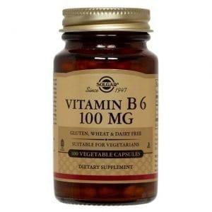 Solgar Vitamin B6 100mg 100 cápsulas vegetais