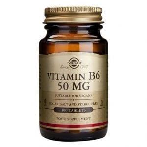 Solgar Vitamin B6 50mg 100 comprimidos