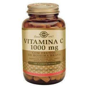 Solgar Vitamina C 1000 mg com Frutos de Roseira Brava 100 comprimidos