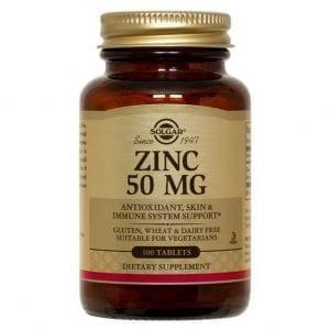Solgar Zinc Gluconate 50mg 100 comprimidos