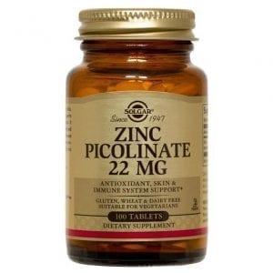 Solgar Zinc Picolinate 22mg 100 comprimidos