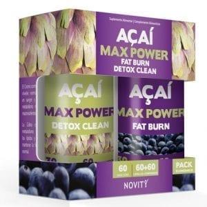 Novity Açaí Max Power 60 cápsulas + 60 comprimidos