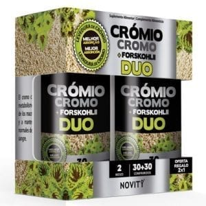 Novity Crómio + Forskohlii Duo 30 + 30 comprimidos