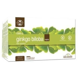 Naturmil Ginkgo Biloba Forte 1500mg 20 ampolas 15ml
