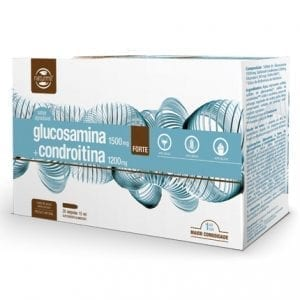 Naturmil Glucosamina 1500mg + Condroitina 1200mg Forte 20 ampolas 15ml
