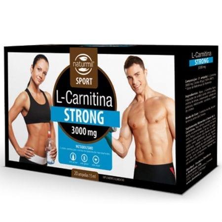 L-Carnitina Strong 3000mg 20 ampolas