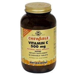 Solgar Vitamin C 500mg Sabor Laranja 90 comprimidos mastigáveis
