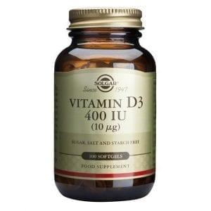 Solgar Vitamina D3 400 IU (10µg) 100 cápsulas moles