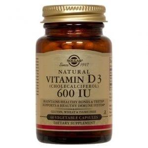 Solgar Vitamina D3 600 IU 60 Cápsulas Vegetais