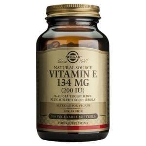 Solgar Vitamin E 134mg (200 IU) 100 cápsulas moles vegetais