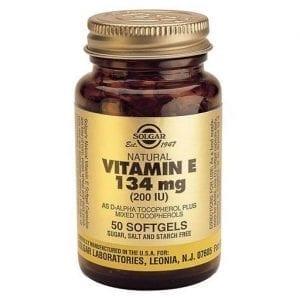 Solgar Vitamin E 134mg (200 IU) 50 cápsulas moles