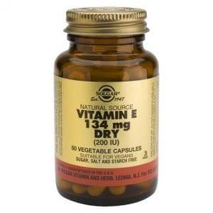 Solgar Vitamin E 134mg Dry (200 IU) 50 cápsulas vegetais