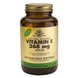 Solgar Vitamin E 268mg (400 IU) 100 cápsulas moles vegetais