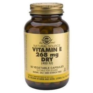 Solgar Vitamin E 268mg Dry (400 IU) 50 cápsulas vegetais