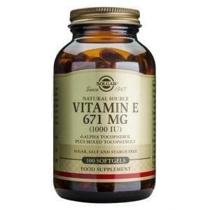 Solgar Vitamin E 671mg Mixed (1000 IU) 50 -100 cápsulas moles