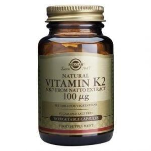 Solgar Vitamin K2 100µg 50 cápsulas vegetais
