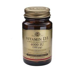 Solgar Vitamina D3 4000 IU 60 Cápsulas Vegetais