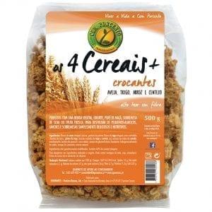 Cem Porcento Os 4 Cereais + Crocantes 500g