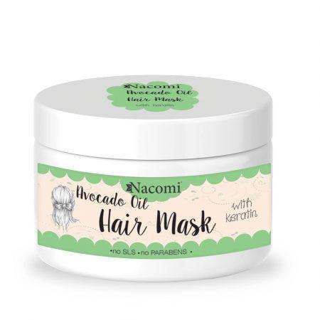Mascara cabelo oleo abacate queratina Nacomi