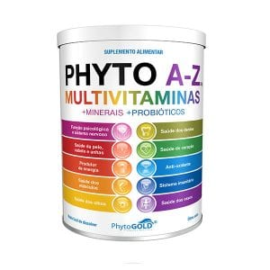 Phytogold®Phyto A-Z Multivitaminas + Minerais + Probióticos 300g