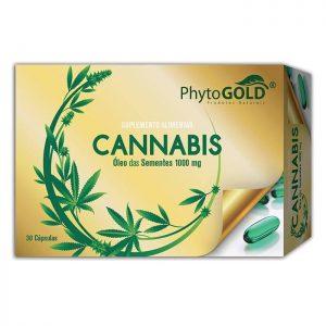Phytogold® Cannabis Óleo das Sementes 1000mg 30 cápsulas