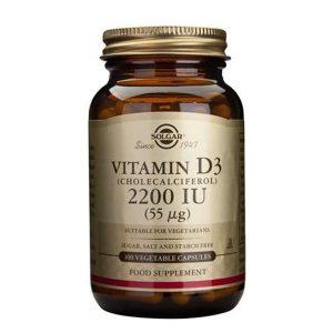 Solgar Vitamina D3 2200 IU 60 cápsulas vegetais