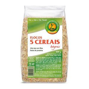 Cem Porcento Flocos 5 Cereais Integrais 400g